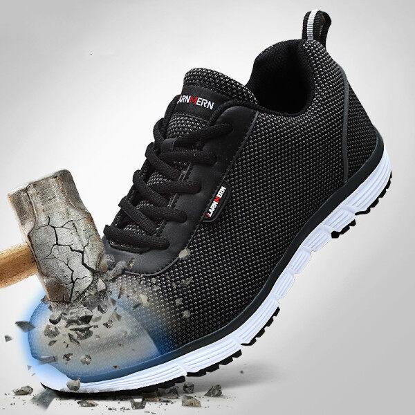 Work Shoes Men Steel Toe Safety Shoes Lightweight Comfortable Anti Smashing SRC Non Slip Reflective Women Work Sneakers