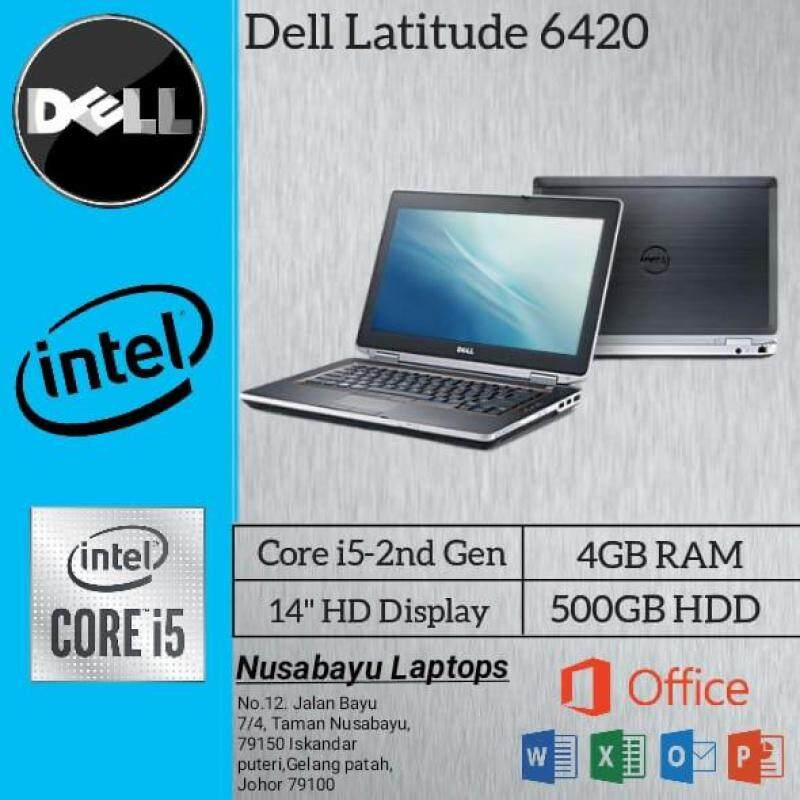LAPTOP DELL LATITUDE E6420 / INTEL CORE I5 - 2nd GEN / 4GB RAM/ 320 GB HDD/ 14 INCH/ INTEL HD GRAPHICS/ Brand new battery / Dell original charger (Used in Nice condition) Malaysia