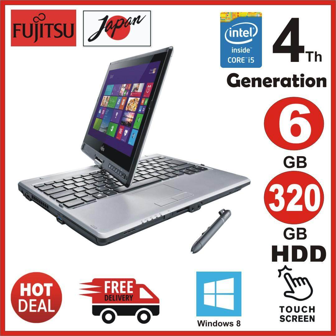 Fujitsu Life Book  T734 - 12.5 - Core i5 4200M - 6 GB RAM - 320 GB HDD - Touch Screen ( original used ) Malaysia