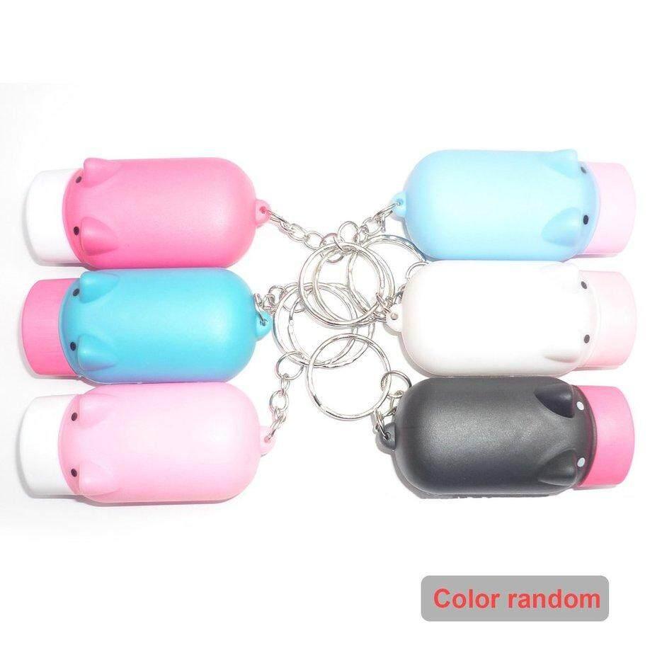 Nóng Di Động Bán Chạy Mini Lợn Đèn Pin Móc Khóa LED Kép Đèn Pin Quà Tặng Doanh Nghiệp (Màu Ngẫu Nhiên)