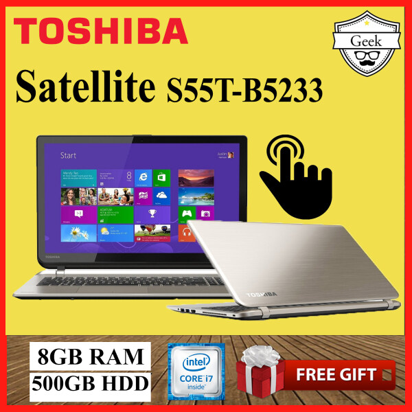 Toshiba Satellite S55t-B5233 -Touchscreen- Core i7-4th gen - 8GB RAM - 500GB HDD - 15.6 Inch Malaysia