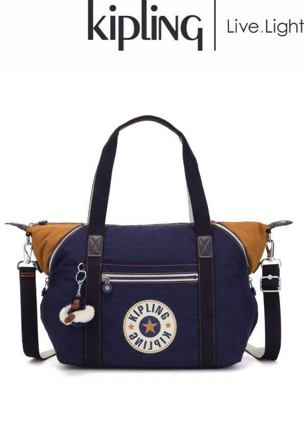1c321685c0 KIPLING ART Active Blue Bl - Medium Tote/ Soft Luggage/ Ladies Casual  Sports Travel