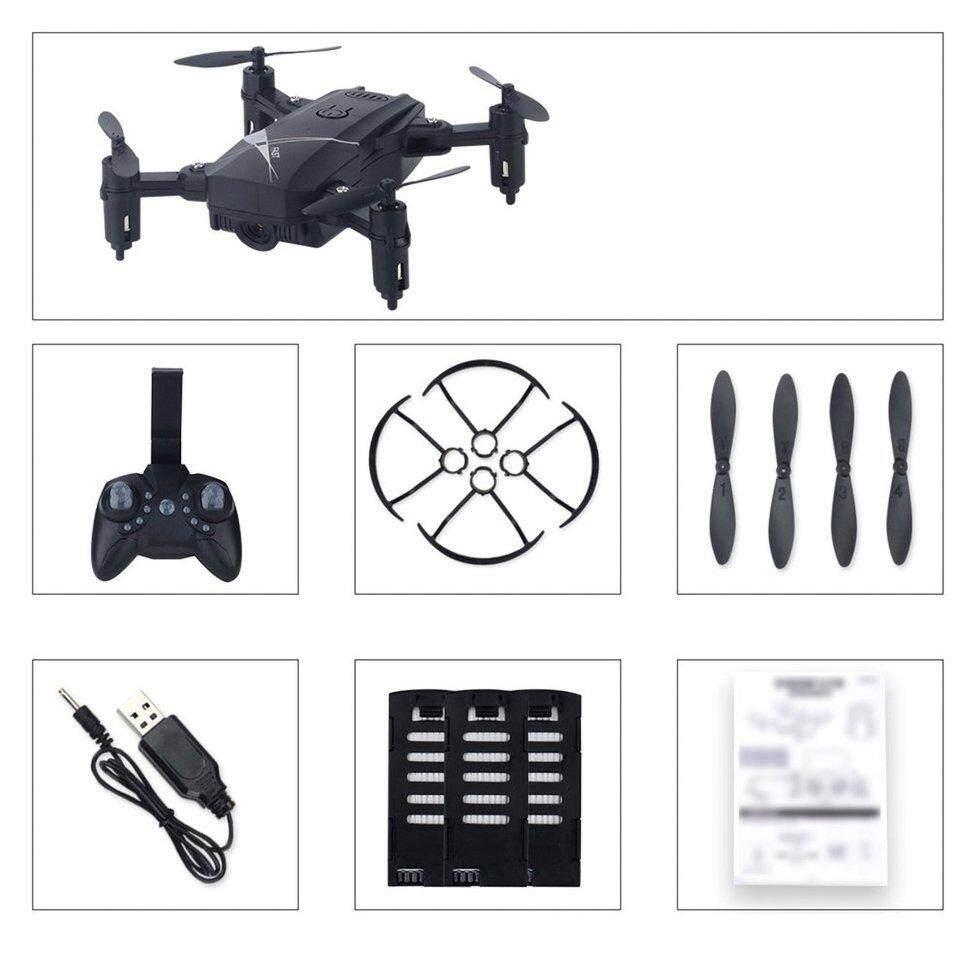 LF602 Mini FPV Foldable RC Drone with 0.3MP Camera Gesture Selfie 3 batt*ry