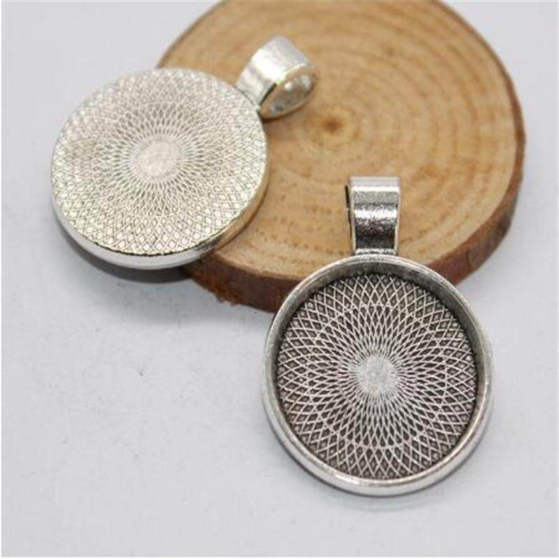 5 Sets Tibetan Alloy Star Photo Pendant Setting Bezel Bases Silver /& 20mm Covers