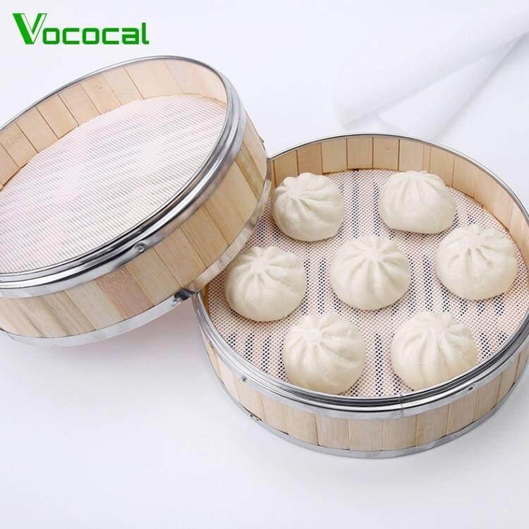 Vococal 10 Chiếc 7.87 inch Không dính Tròn Nồi Hấp Silicone Lót Lưới Thảm Lót Hấp Bánh Bánh Bao Nướng Bánh Ngọt Mờ tổng Lưới