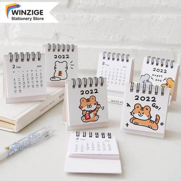 Winzige Lịch Để Bàn Mini 2022 Nhật Ký Kế Hoạch, Tự Làm Sinh Viên Văn Phòng Văn Phòng Phẩm