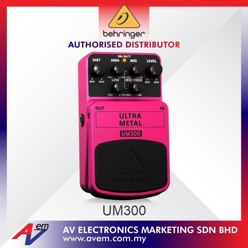 BEHRINGER UM300 Heavy Metal Distortion Effects Pedal Malaysia