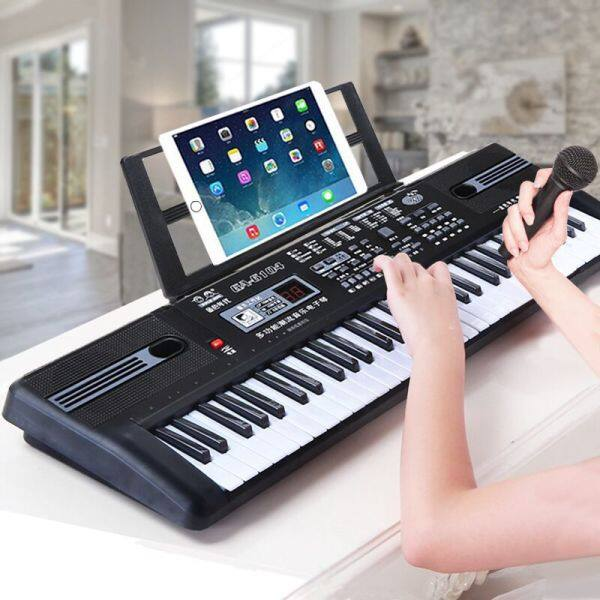 【IN STOCK】 Intelligent 61 key childrens electronic organ multi-functional beginners girl piano with microphone music toy boy baby electronic piano digital piano Malaysia