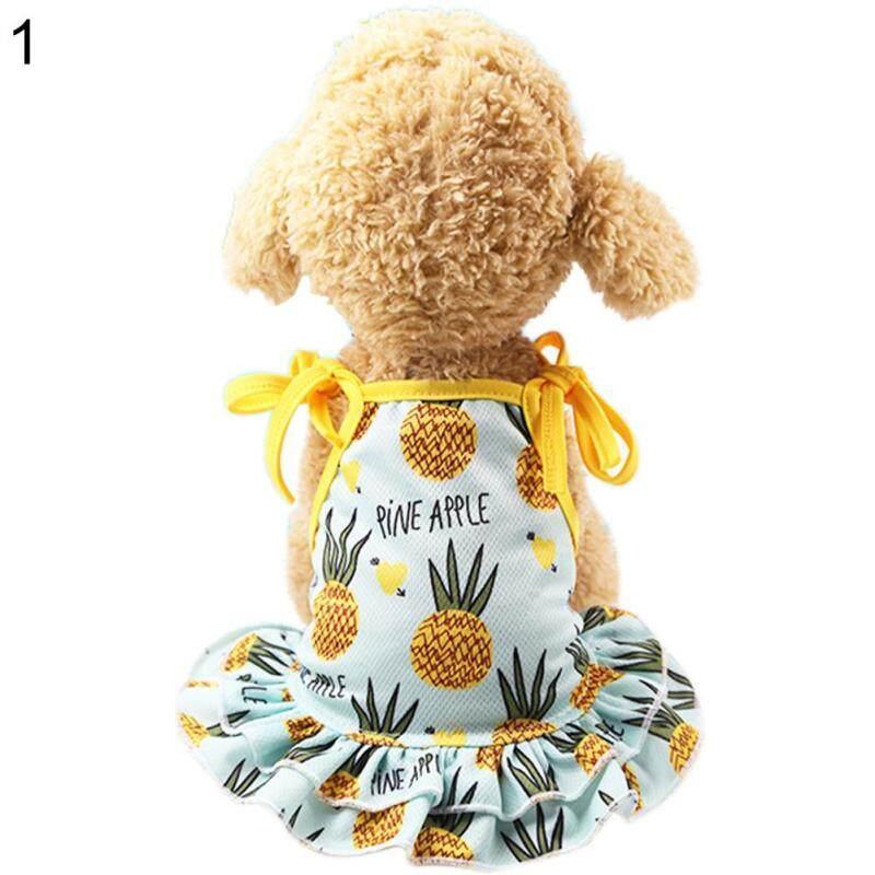 Huanhuang®Đáng Yêu Dứa Pet Dog Cat Dress/Vest Trang Phục Mùa Hè Trang Phục Cặp Đôi
