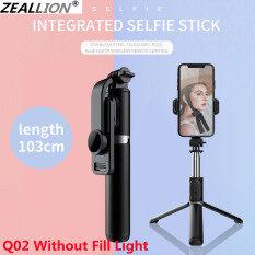 Zeallion Gậy Selfie Bluetooth Chân Máy Mini Ba Chân Có Thể Gập Lại Chân Máy Đơn Có Thể Kéo Dài Với Màn Trập Từ Xa Và Đèn Chiếu Sáng Phụ Chụp Ảnh Tự Sướng Bằng Điện Thoại Di Động Tạo Tác Phổ Biến Cho IOS Android