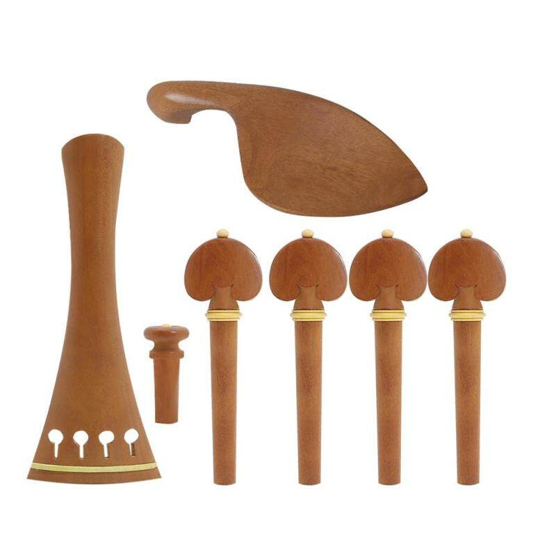 Violin Spare Jujube Wood Violin Fitting 4/4 with Violin Chinrest  Tailpieces Pegs End Malaysia
