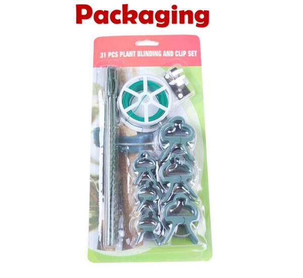 31PCS/SET PLANT TREE BINDING AND CLIP VINE SUPPORT SET CLIPS CABLE TIE WIRE GRAFTING TOOLS FOR GARDENING TREE SHAPE