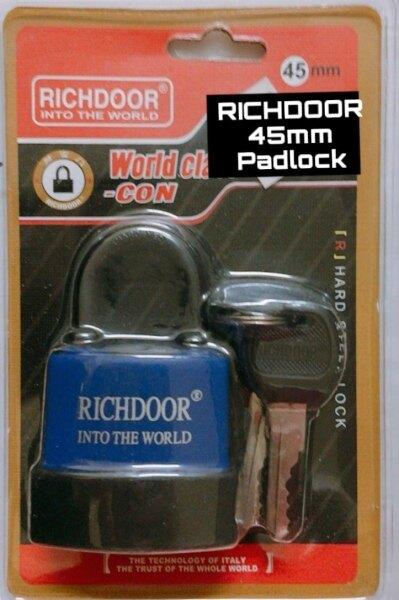 RICHDOOR Anti Theft Pad Lock Laminated Water Proof Padlock 45MM