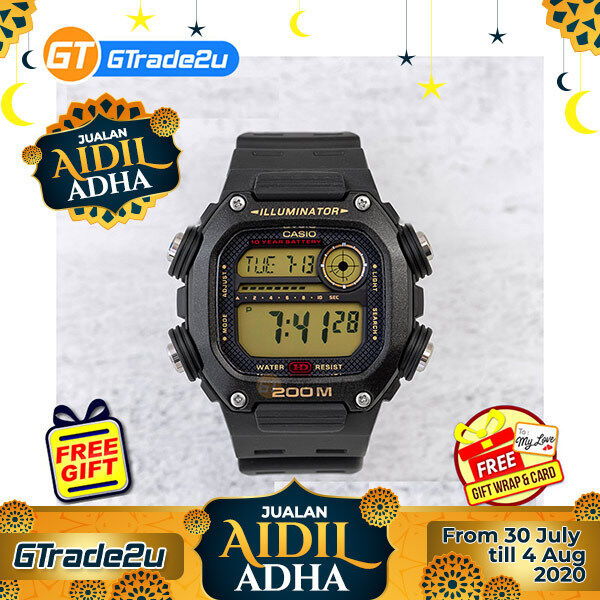 Casio Standard Men DW-291H-9A DW291H-9A Digital Sport Watch Black Resin Band watch for man . jam tangan lelaki . men watch . watch for men . casio watch for men . casio watch Malaysia