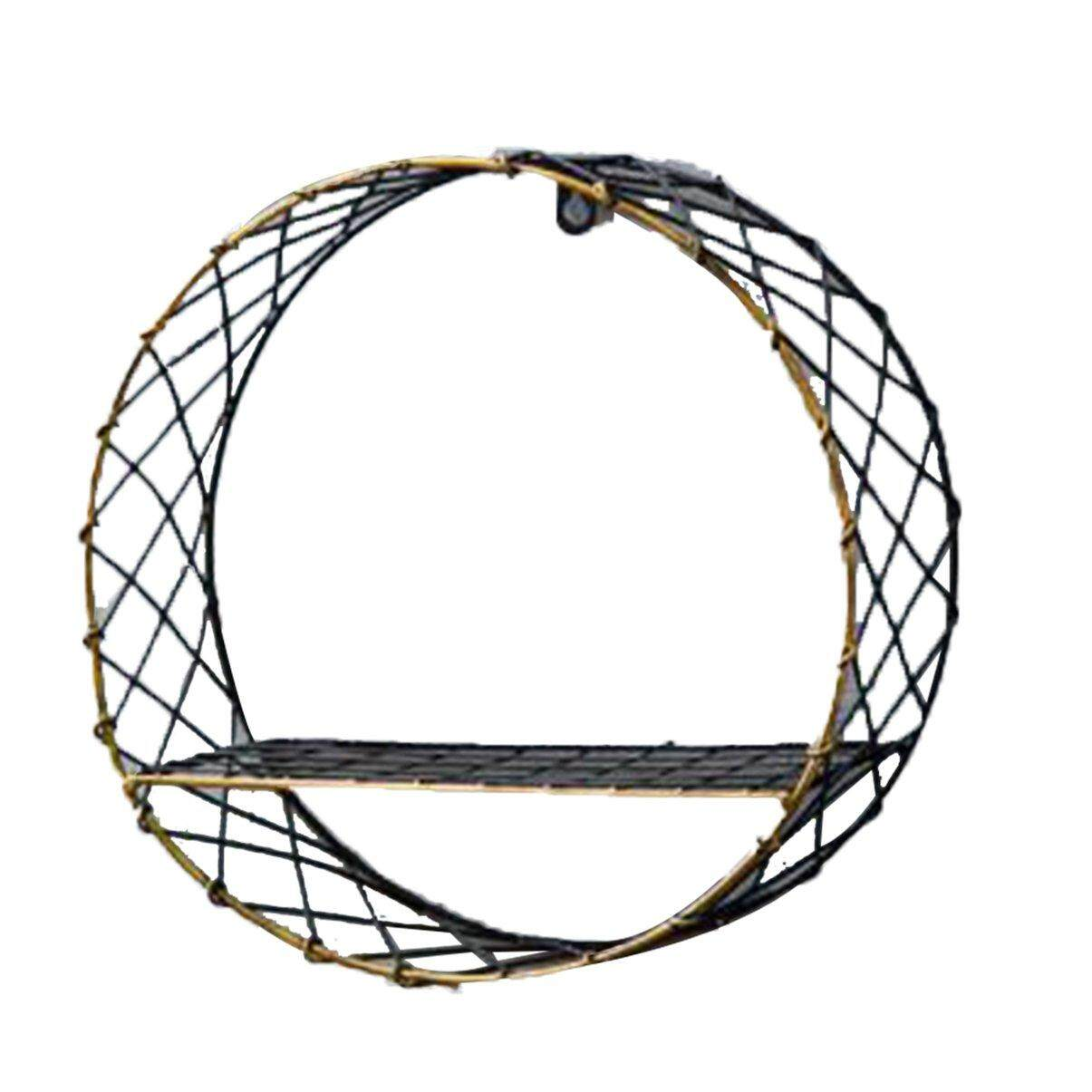 Crazy Deal Wall Shelf Home Multi-Layer Solid Wood Bookshelf Round Large Net Wall Hanging