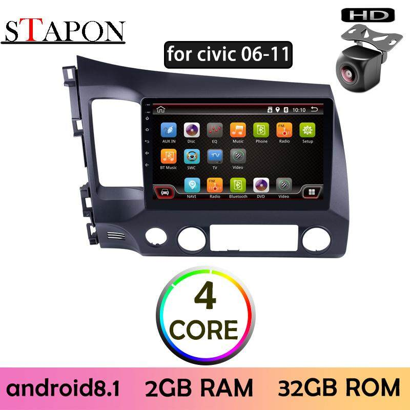 STAPON 10inch 2 5D IPS for honda civic 2006-2011 Android 8 1 2G RAM car  HEAD UNIT plug and play multimedia player with WiFi Bluetooth GPS steering