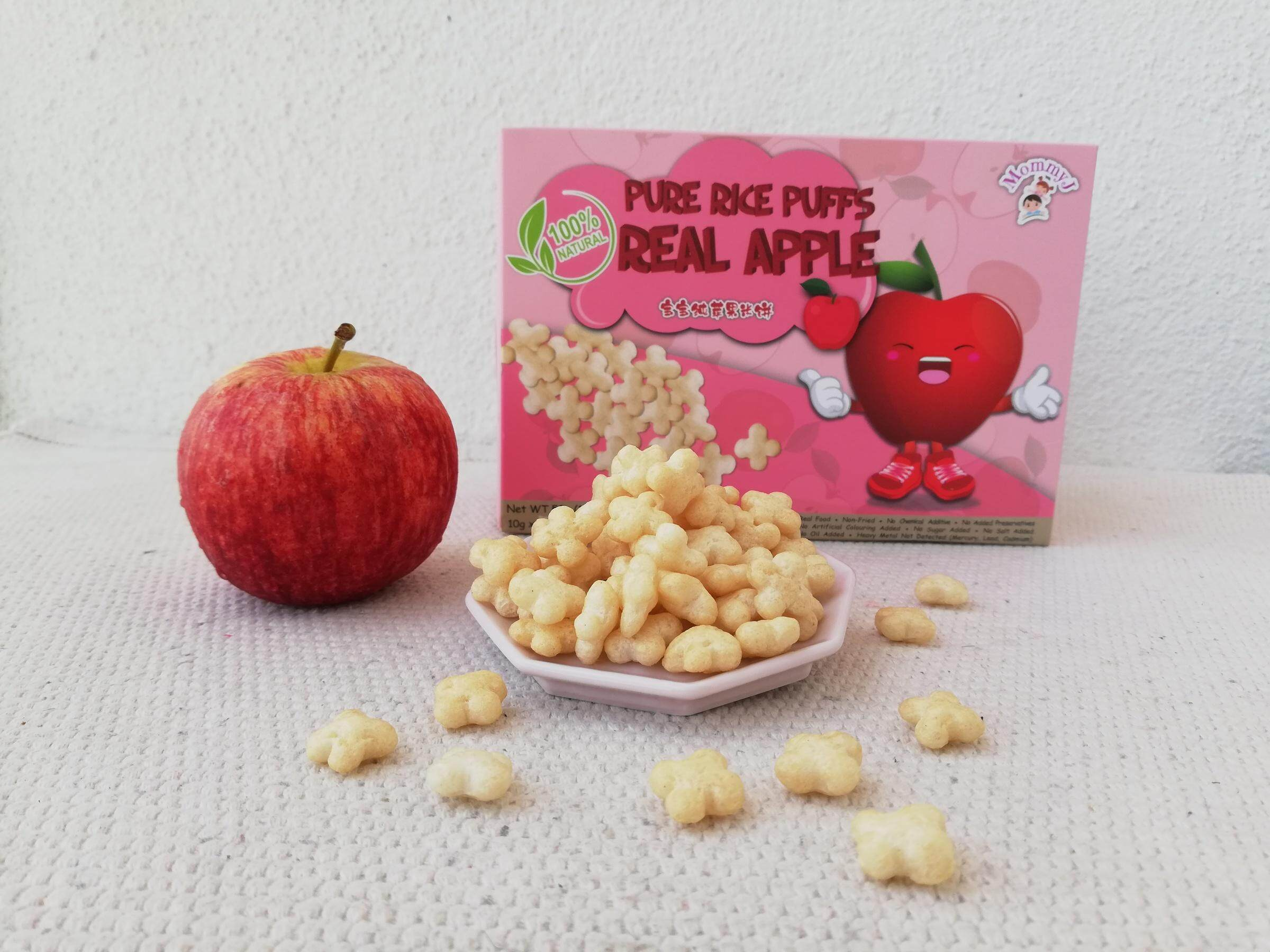 Mommy J Pure Rice Puffs Real (Apple)