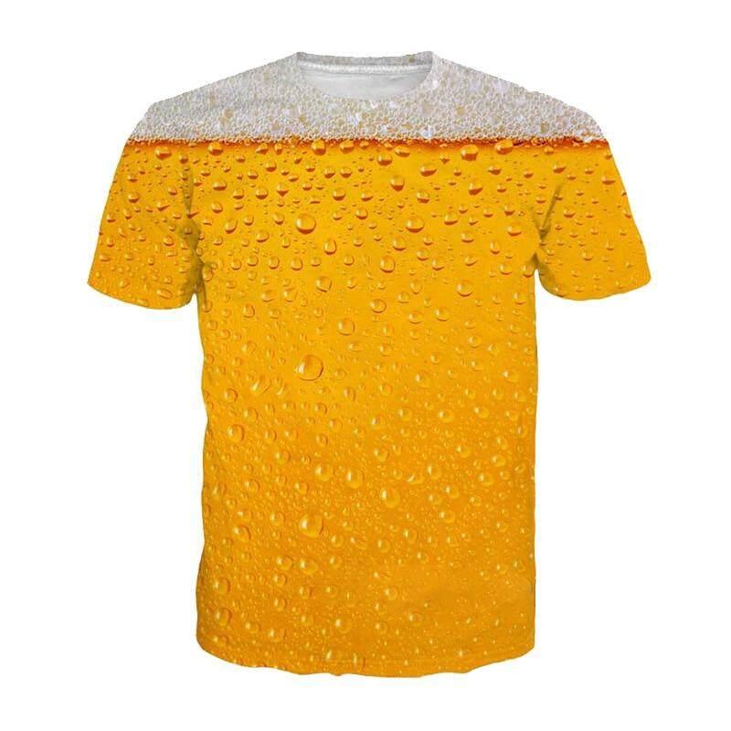 1ec05771 2019 Summer T-Shirt 3D Beer Letters Print Men Women Funny Novelty T Shirt O