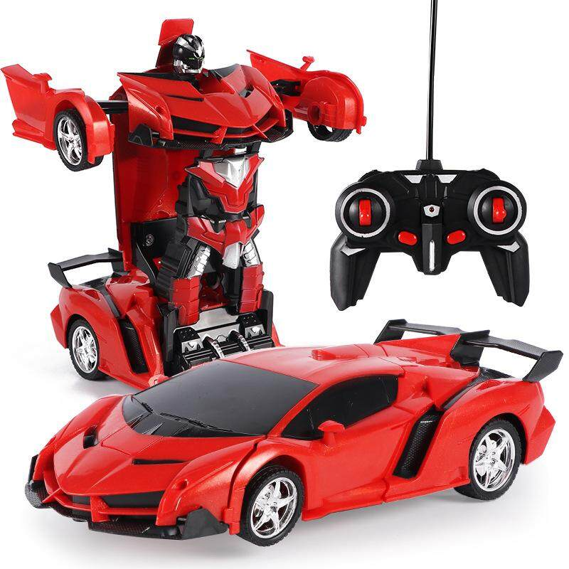 Xuezhishan Electric 1:18 One-Button Remote Control Deformation Car Robot Simulation Model Car Package Electric Charging By Jin Xin.