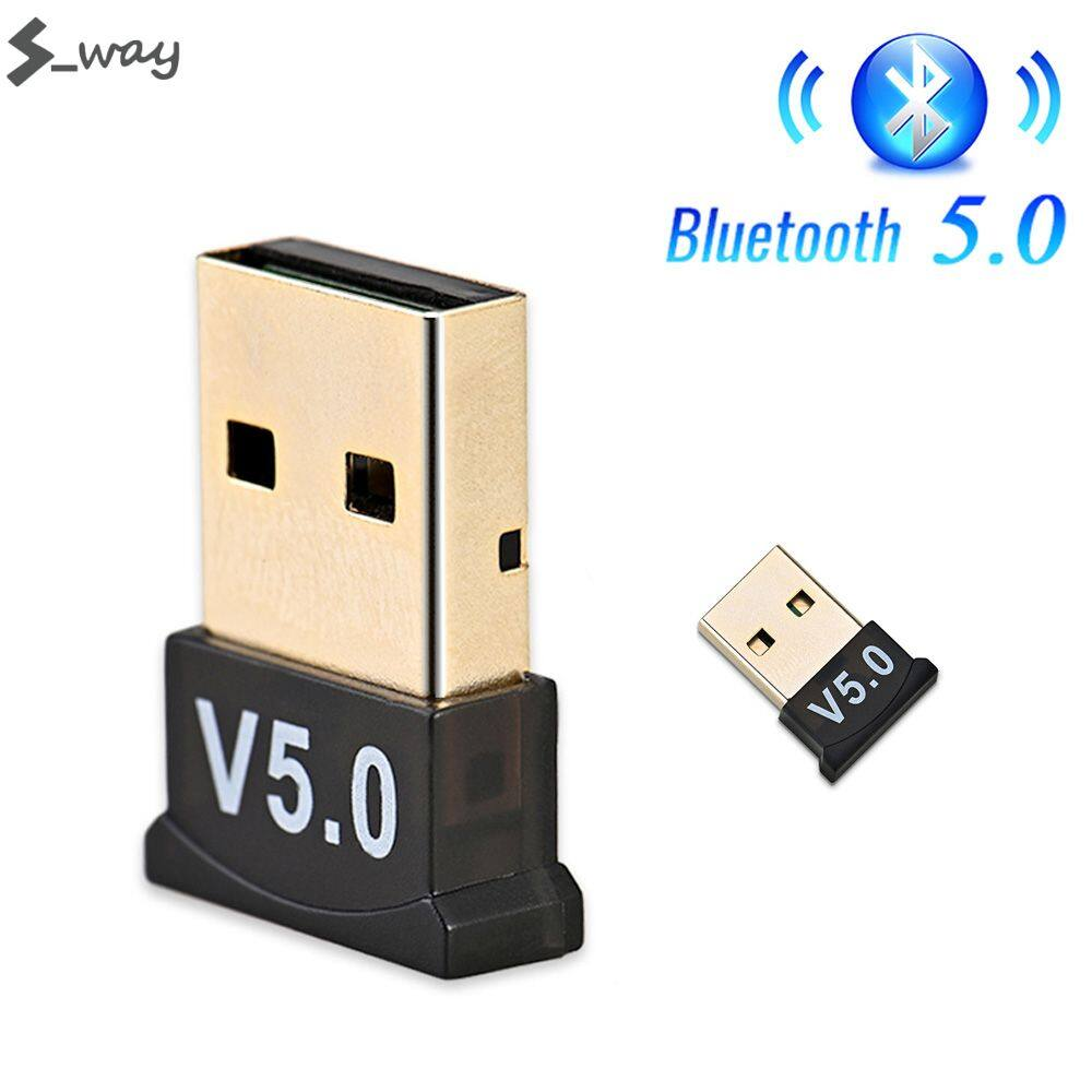 S_way USB Bluetooth 5.0 Adapter Transmitter Bluetooth Receiver Audio Bluetooth Dongle Wireless USB Adapter for Computer PC Laptop