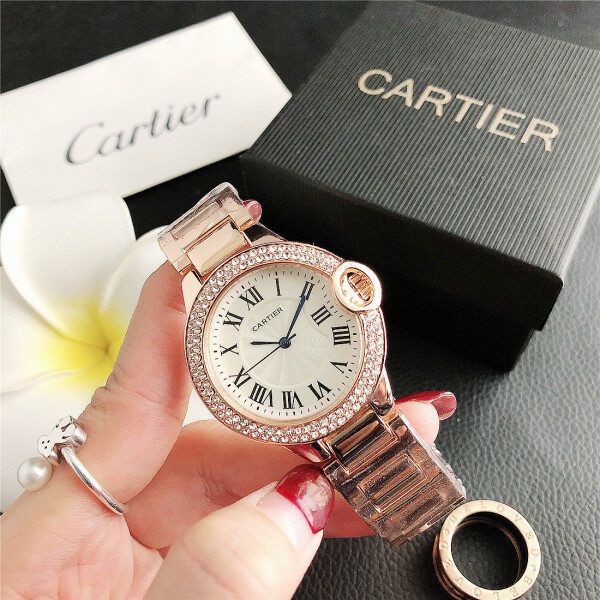 Cartierˉ Women Fashion Watches Luxury Lady Wristwatches Stainless Casual Female Quartz Watch Malaysia