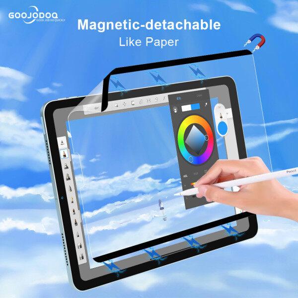 GOOJODOQ Like Giấy Bảo Vệ Màn Hình Từ Tính, Miếng Dán Có Thể Tái Sử Dụng Cho iPad 12 9 2021 Pro 11 Air 4 10.9 10.2 7th 8th Air 3 10.5