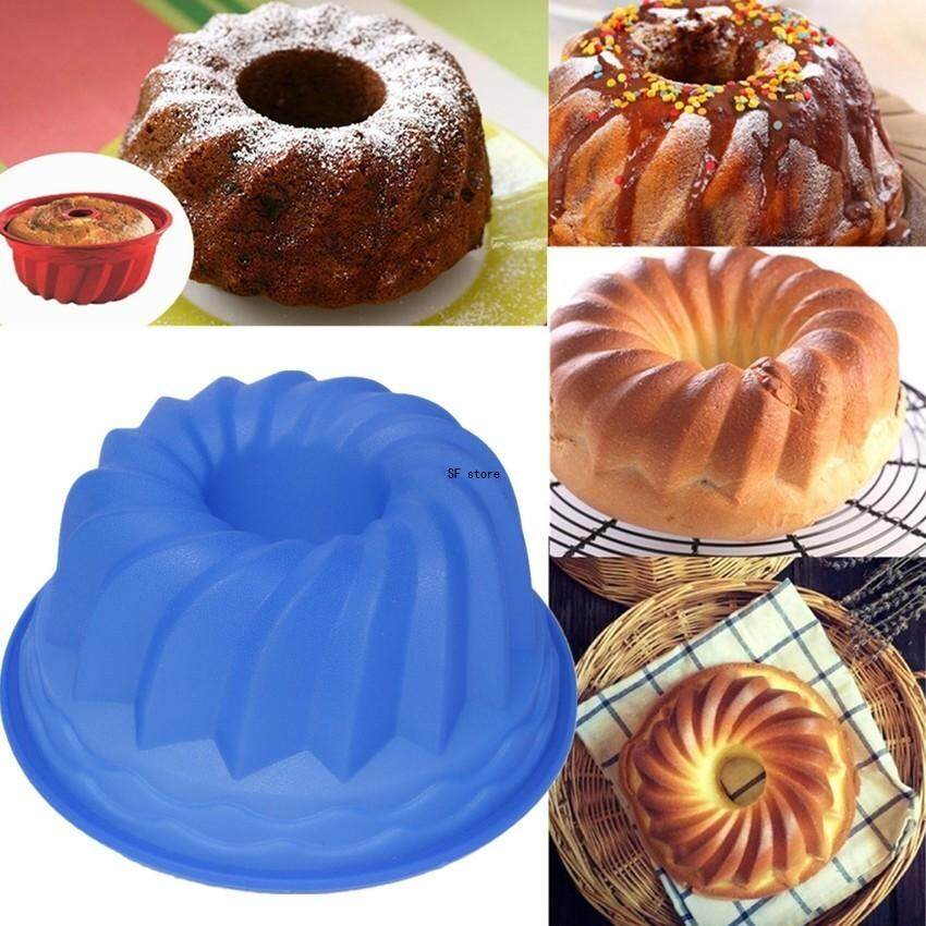 SF Silicone Swirl Bundt Ring Pan Shaped Cake Bread Pastry Mold Traybaking Mould