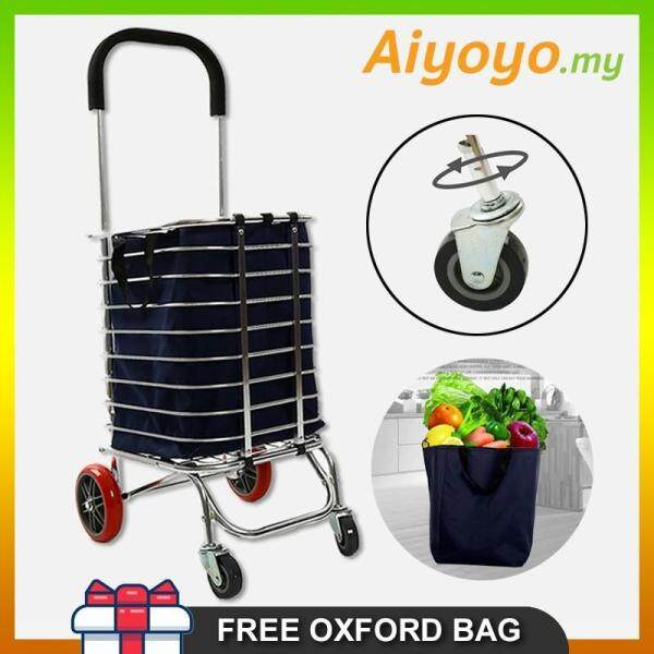 Multi Functional Folding Foldable Shopping Grocery Trolley Cart Oxford Bag Aluminium Light Duty Multifunction Stainless Steel