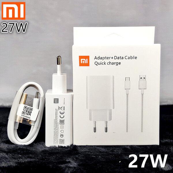 Sạc Cho Xiaomi 27W Bộ Chuyển Đổi Sạc Nhanh Mi QC 4.0 Turbo Chính Hãng Cáp Loại C, Dành Cho Mi 11 10 Ultra 9 Pro 9T Poco X3 NFC M3 K40 K30