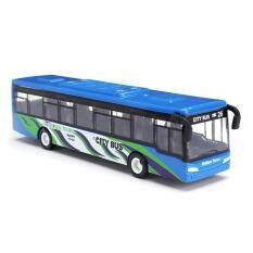 15cm kéo lại xe buýt đồ chơi trẻ em em kéo lại xe buýt đưa đón mô hình xe mô hình đồ chơi trẻ em-màu xanh (màu xanh)