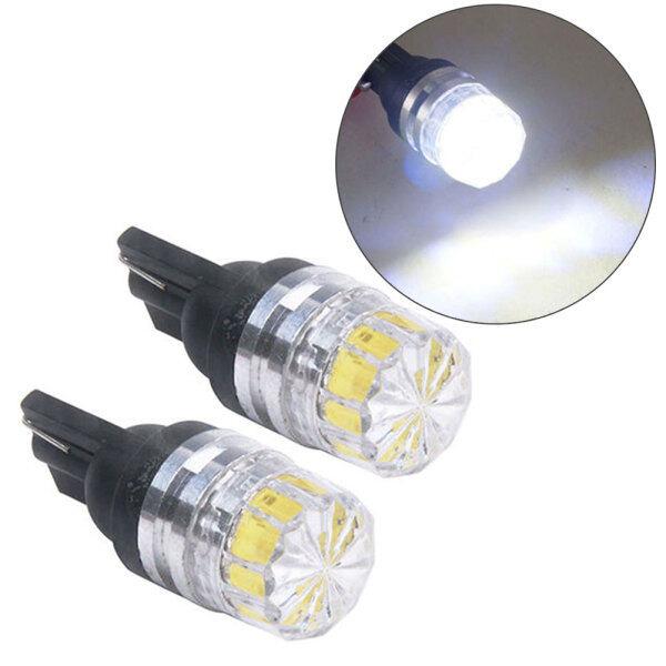 2 Bóng Đèn LED Phía Sau Xe Ô Tô T10 5050 5SMD Màu Trắng Đèn