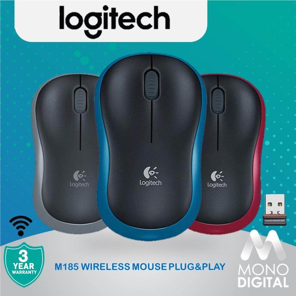 Logitech M185 Wireless Mouse - Plug And Play Wireless Malaysia