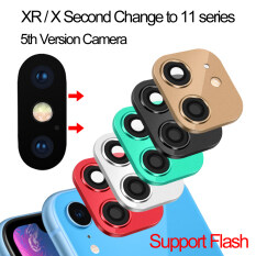 [185]1 * Cao Cấp Hỗ Trợ Đèn Flash Kính Phụ Kiện Di Động Miếng Dán Thứ Hai Thay Đổi iPhone 11 Pro Max Giả Camera Ống Kính ốp Lưng