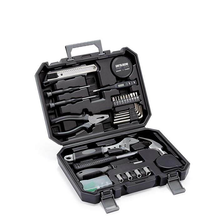 XIAOMI JIUXUN 12/60Pcs Hand Tool Set General Household Repair Hand Tool Kit With Toolbox Storage Case Wrench Hammer Tape Plier