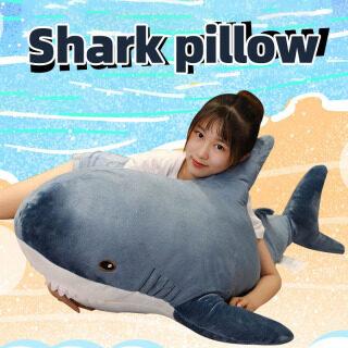 Đồ Chơi Nhồi Bông Thiết Kế Hình Cá Mập 45CM 60Cm, Búp Bê Động Vật Nhồi Bông Có Đệm thumbnail