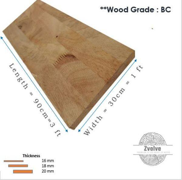 Rubber Wood Board 18mm x 30cm x 90cm (Grade BC) | Kayu Papan | Kayu Getah | Papan DIY | Papan Getah |