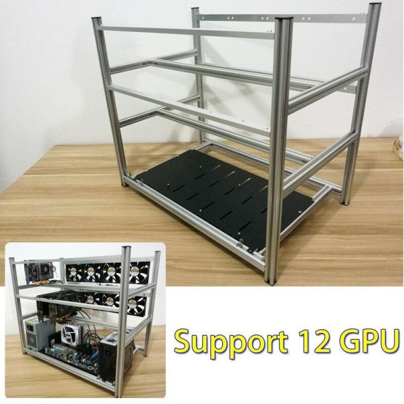 Bảng giá Alluminum Mở Không Khai Thác Mỏ Mật Mã Thợ Mỏ Khung Giàn Khoan 12 GPU Dành Cho ETH BTC Zcash Phong Vũ