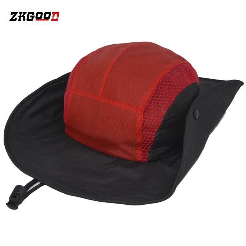 zkgood Outdoor Sports Mountaineering Fishing Hat Big Brim Quick-drying Fisherman Hat Cap