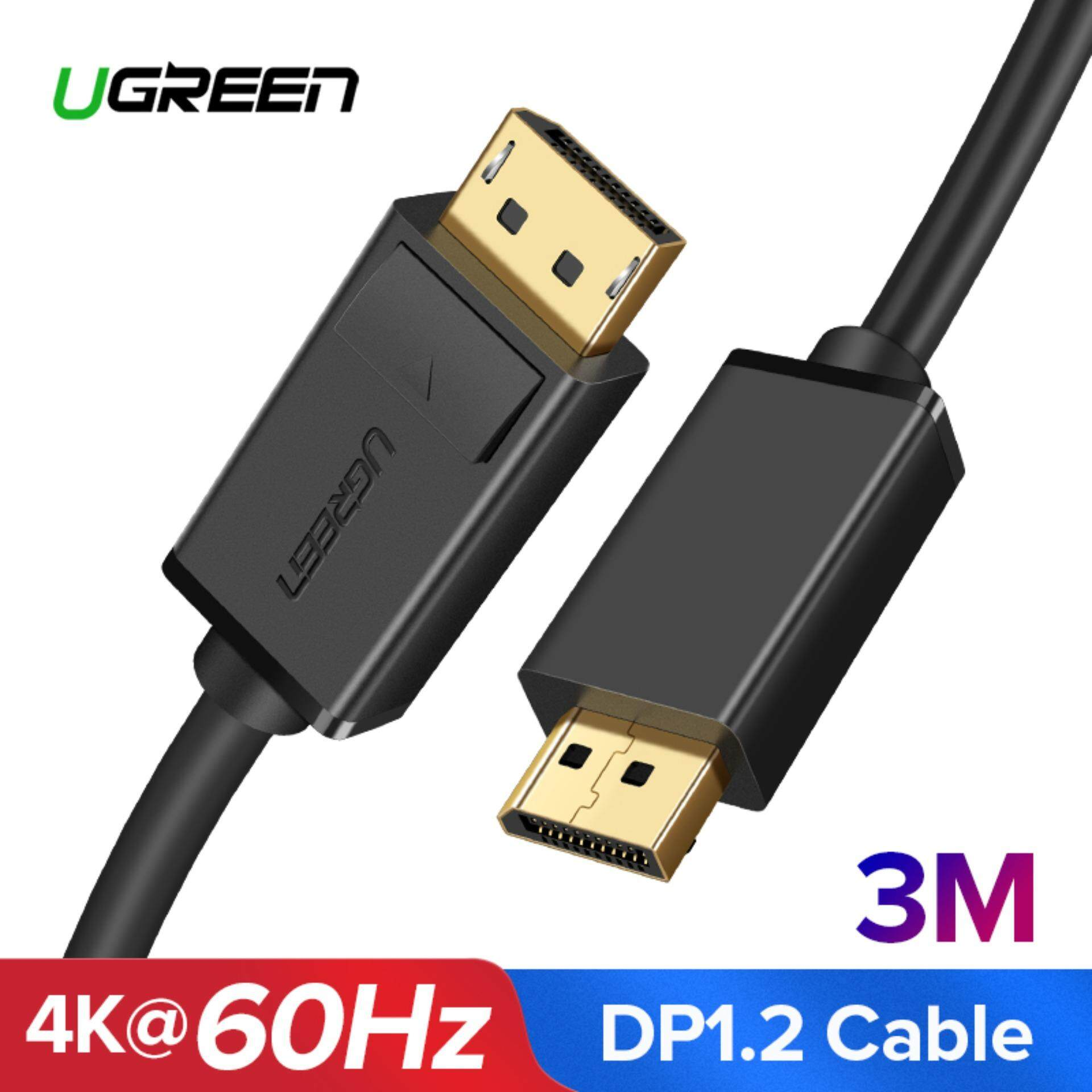 Ugreen 3meter 4k Displayport To Displayport Cable Gold Plated 1.2 Version Audio Video Cable By Ugreen Flagship Store.