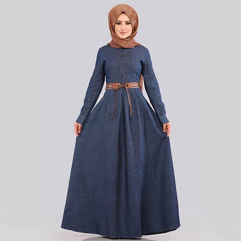 cedfdbf631 Arab Fashion Ramadan Traditional Women s Muslim Jubah Muslimah Kurung Maxi  Dress