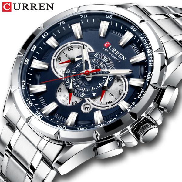 Đồng hồ nam cao cấp thời trang mặt kính thạch anh chống nước chống va đập CURREN bán chạy