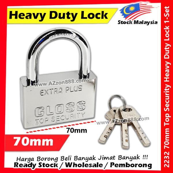 70mm Heavy Duty Security Lock Padlock / Solid Brass Stainless Steel Padlock #Brass #Solid #Padlock #Lock #2232 #70mm