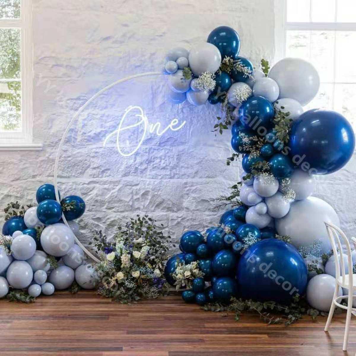 114pcs Macaron Blue Balloon Garland Arch Kit Navy Blue Baby Wedding Shower 1st Happy Birthday Party Decoration Balloons Supplies Lazada