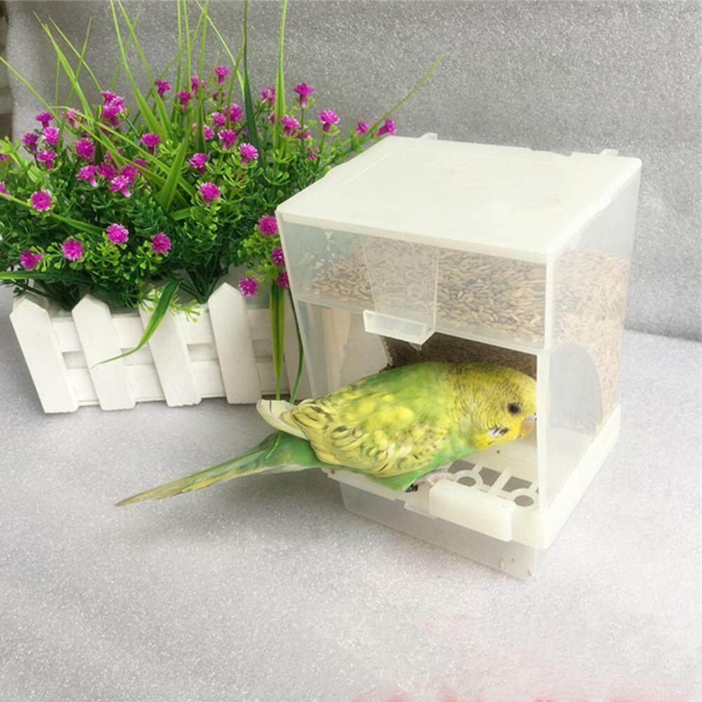 Parrot Automatic Feeder Anti-Spreading Box Bird Food Box Automatic Pet Feeder Sprinkled Bird Feeder By Sundlight Shop.
