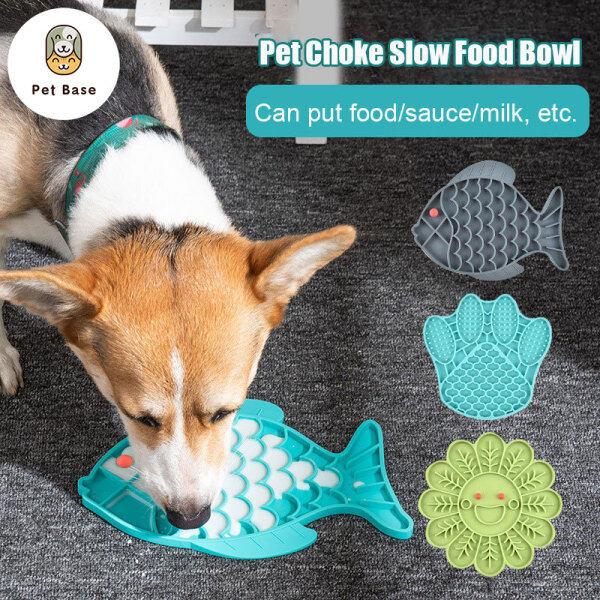 Đĩa Đựng Thức Ăn Cho Chó Mèo Nhỏ Bát Thức Ăn Cho Chó Thú Cưng Gấp Gọn Bằng Silicon, Tấm Liếm Cho Chó Ăn, Con Chó Chậm Trung Chuyển
