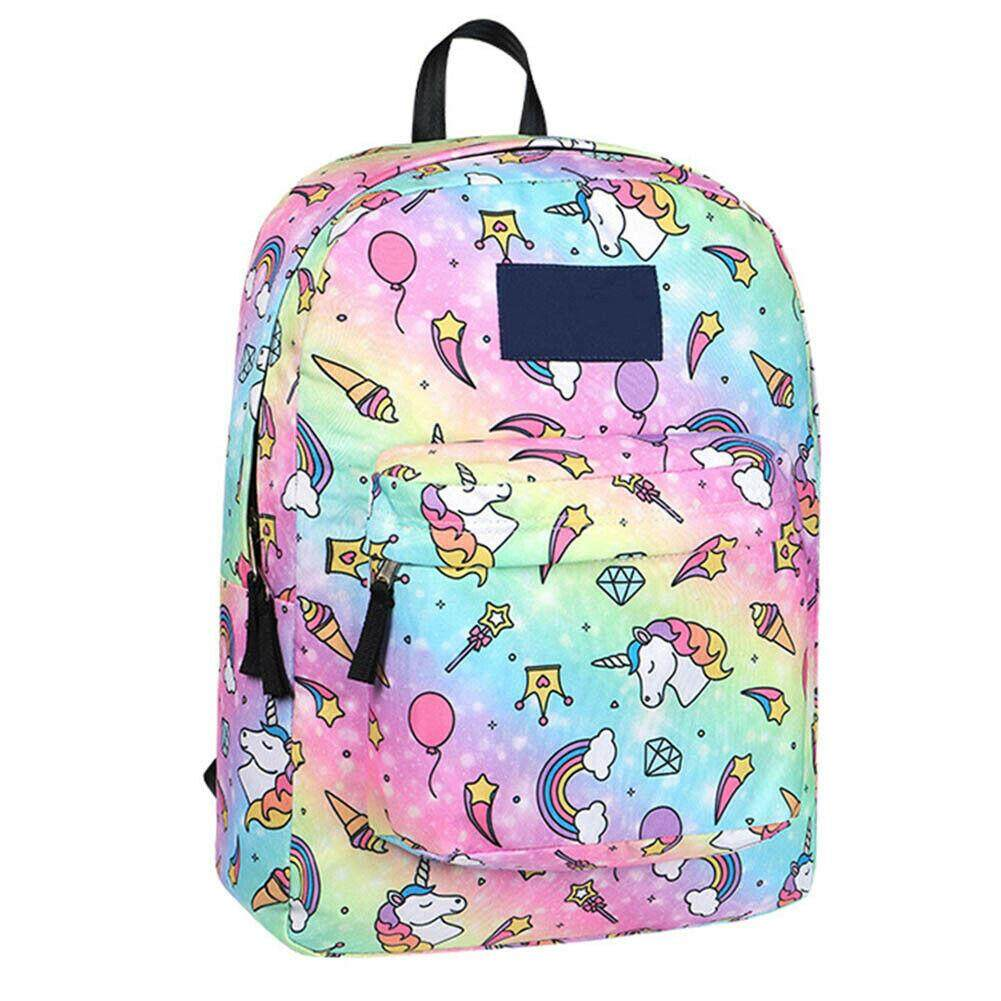 Middle School Student Cute Unicorn Backpack Shoulder Bag Large Capacity Ru# #ZW