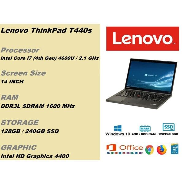 Lenovo ThinkPad L440 intel core i5 4th gen / L450 core i5 5th gen / x230 core i5 3rd gen/ E555 AMD / T440 core i5 4th gen, windows 10 Pro Malaysia