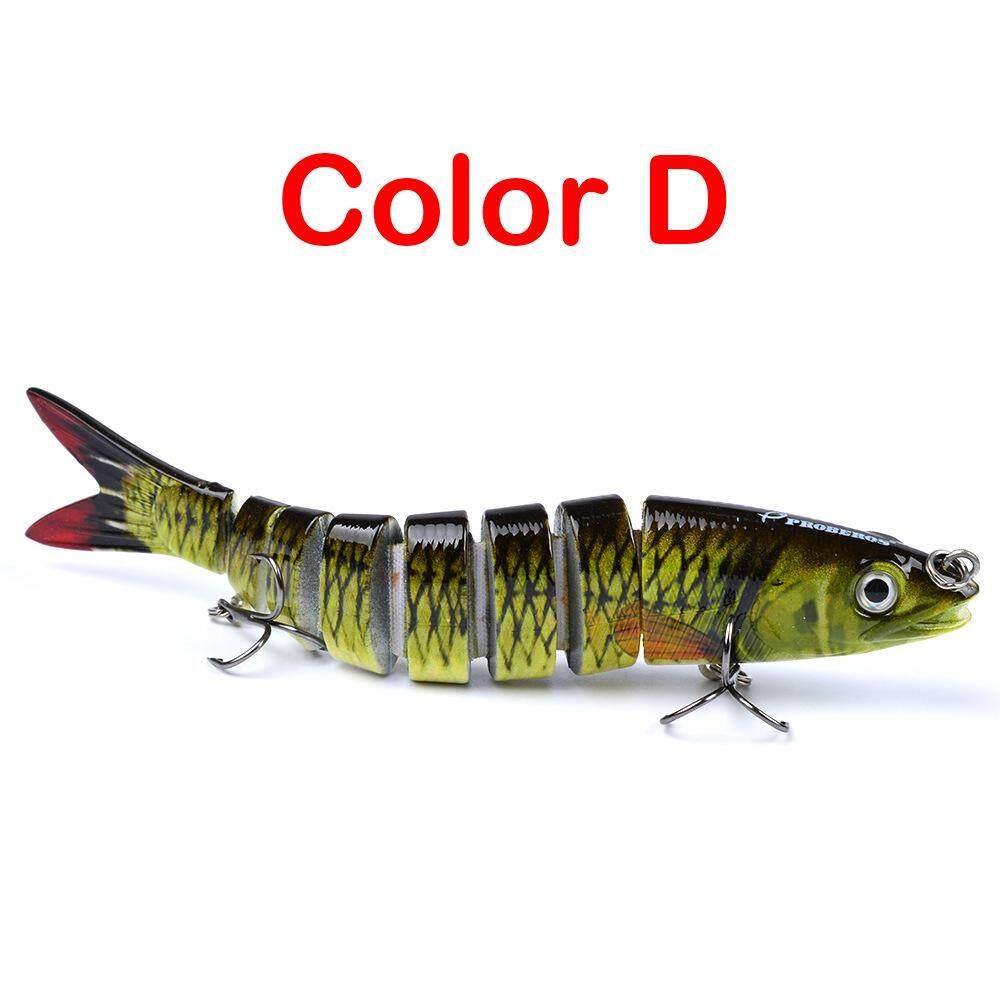 Fishing Lure 10cm 13g 3D Eyes 6-Segment Fishing Hard Lure Crankbait Wit