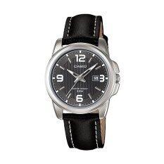 Casio LTP-1314L-8AV Black Genuine Leather Strap Band Watch Ladies Malaysia