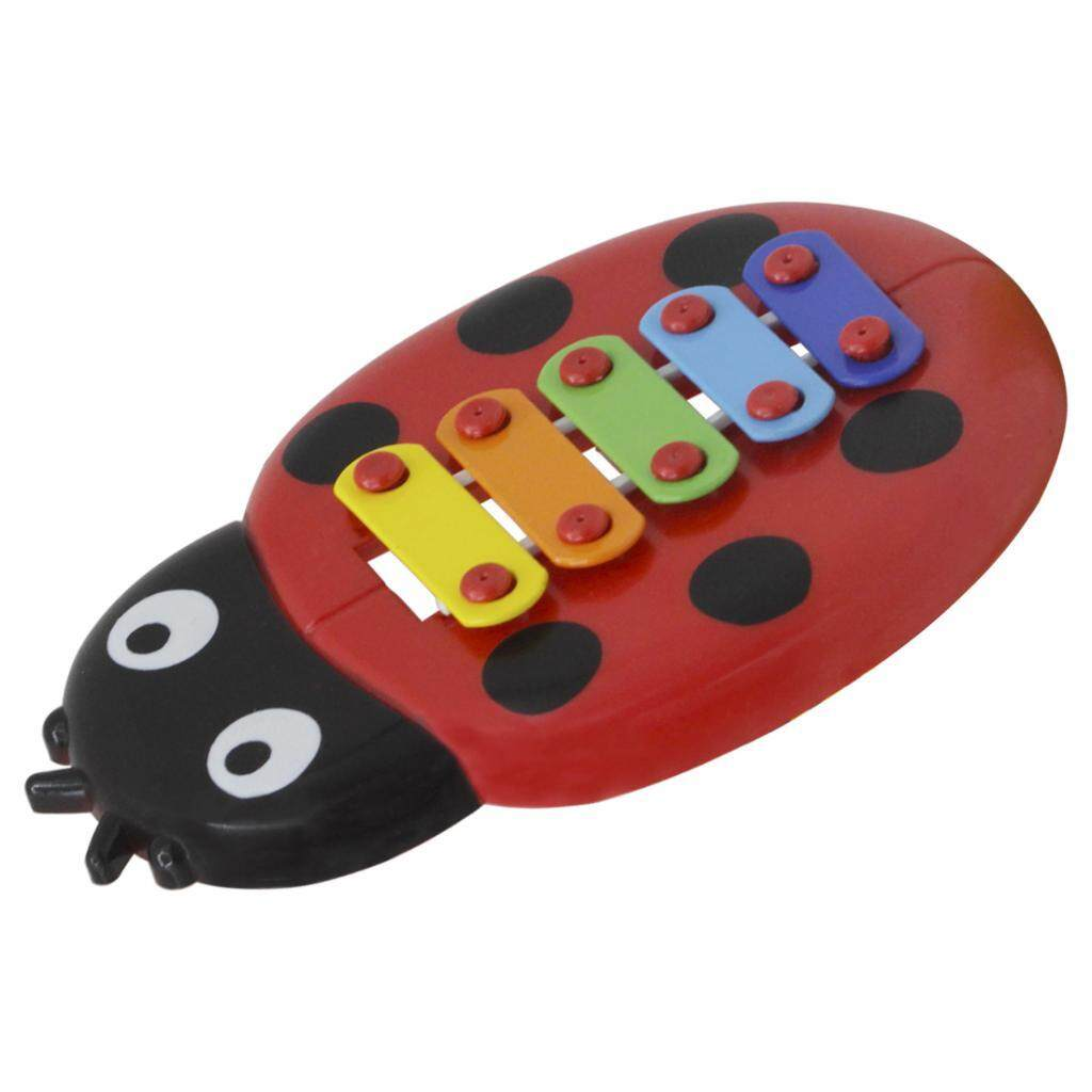 Miracle Shining 2x Exquisite 5 Tones Ladybug Multi-Colored Xylophone Handheld Piano By Miracle Shining.